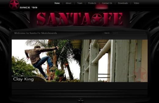 Santa Fe Skateboards   Harvest Web Design Melbourne FLorida