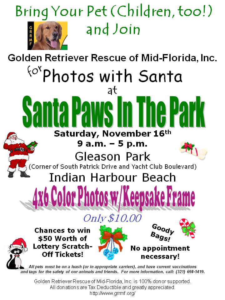 Santa Paws in the Park 2013 Harvest Web Design Indian Harbour Beach