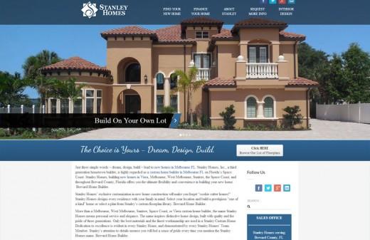 Stanley Homes Harvest Web Design Melbourne Florida Web Designer