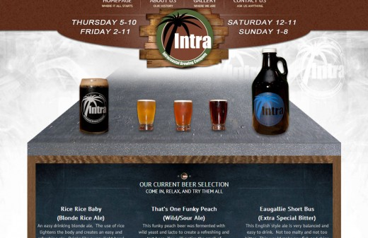 Intracoastal Brewing Company - Harvest Web Design Melbourne Florida Web Designer