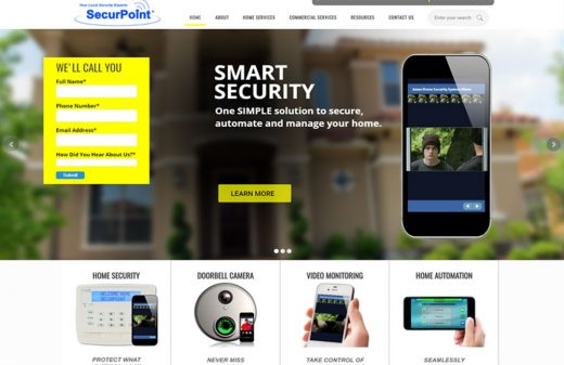 SecurPoint Security in Melbourne website design by Harvest Web Design