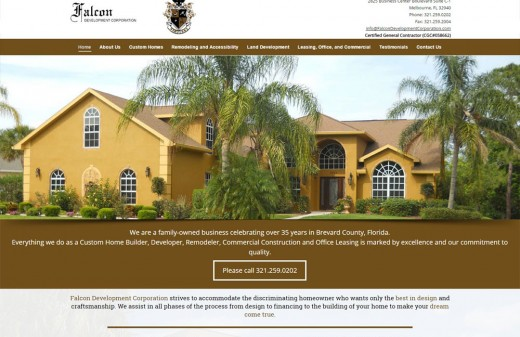 falcon-development-realty-harvest-web-design-melbourne-florida-web-designer