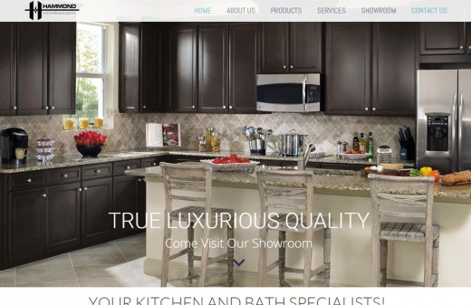 Hammond Kitchen and Bath Harvest Web Design Melbourne Florida