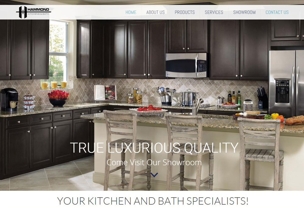 kitchen web design. Hammond Kitchen and Bath  Harvest Web Design Melbourne
