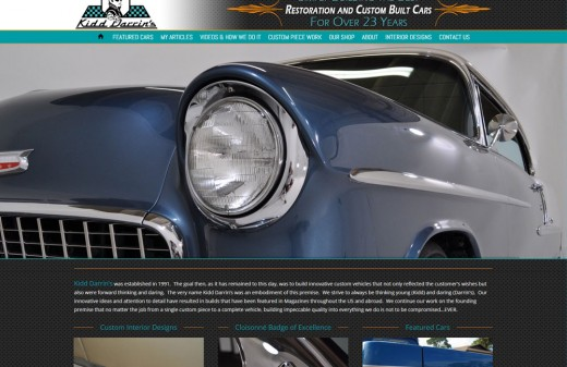 Kidd Darrin's Custom Cars Harvest Web Design Melbourne Florida