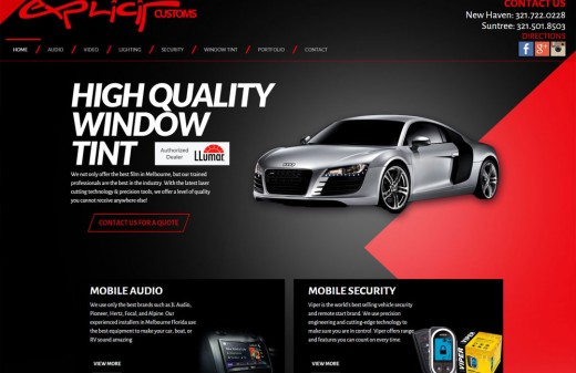 Explicit Customs Melbourne and Suntree Harvest Web Design Client