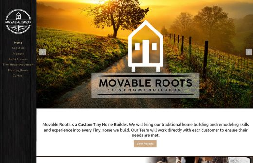Movable Roots Tiny Homes website design by Harvest Web Design in Melbourne FL