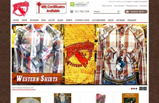 Byrds Western Store | Harvest Web Design Melbourne Florida