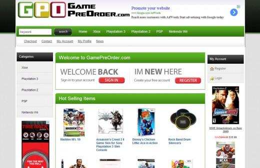 GamePreOrder   Harvest Web Design Melbourne Florida