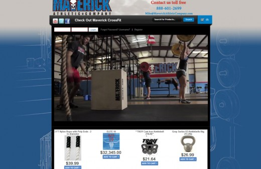 Maverick Athletic Company | Harvest Web Design Melbourne Florida