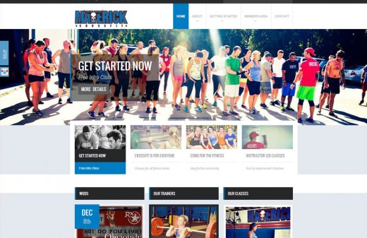 Maverick CrossFit - Harvest Web Design Melbourne Florida Web Designer
