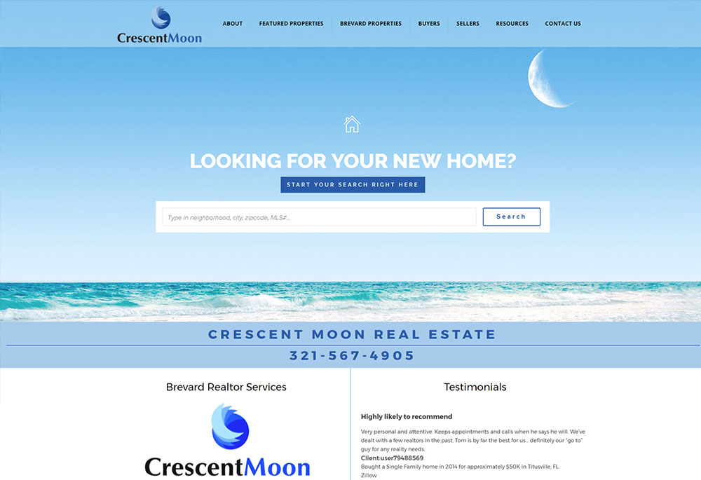 Crescent Moon Real Estate Website Design By Harvest Web Design In Melbourne Fl,Latest Lehenga Designs For Wedding With Price Red Colour