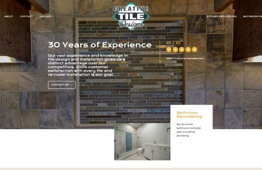 Creative Tile Design Inc. new website by Harvest Web Design in Melbourne FL